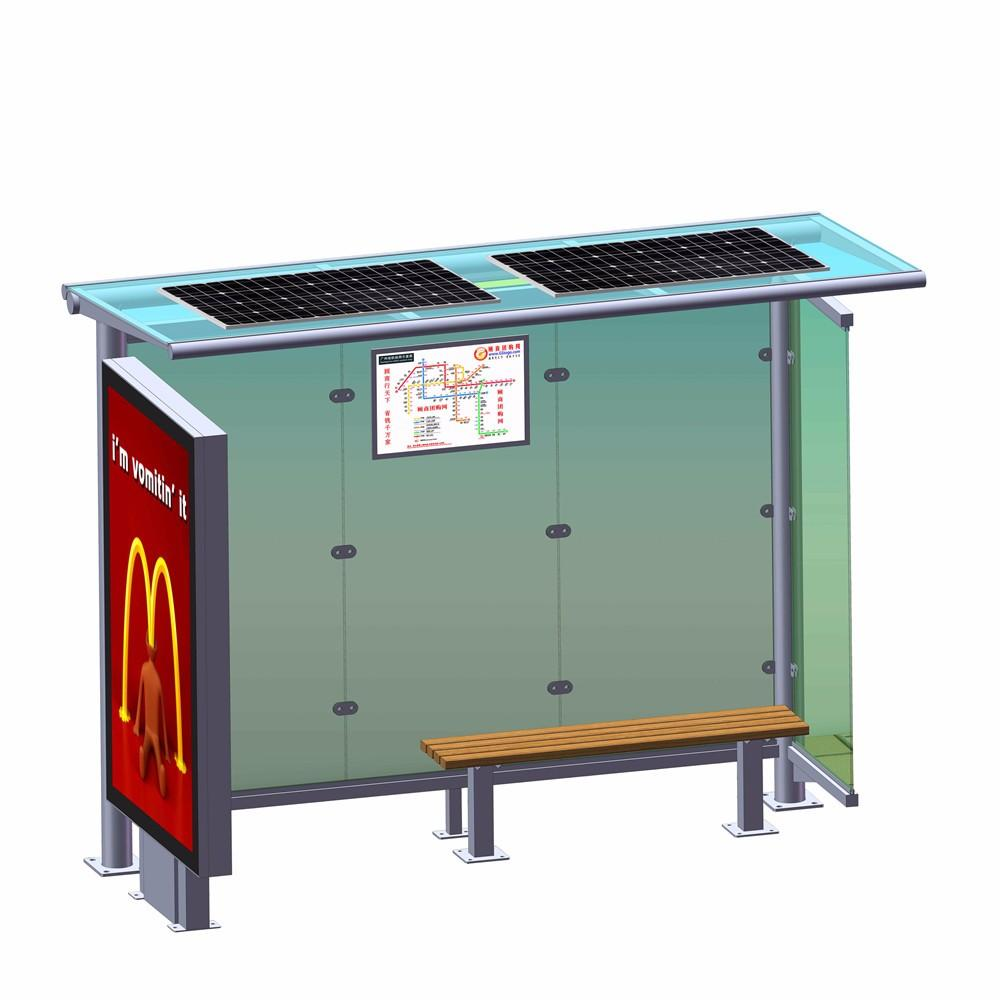 Outdoor advertising bus stop shelter manufacturer bus shelter