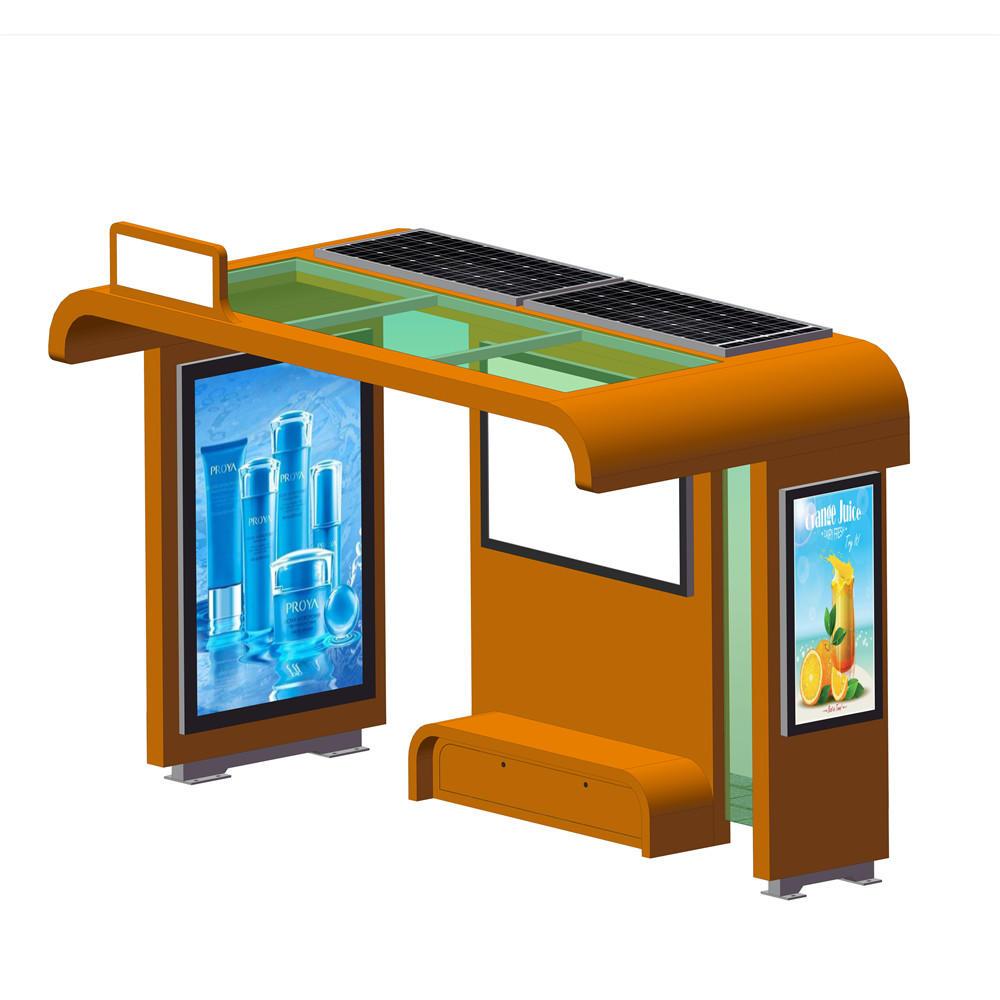 Outdoor furniture custom-made design metal solar bus shelter