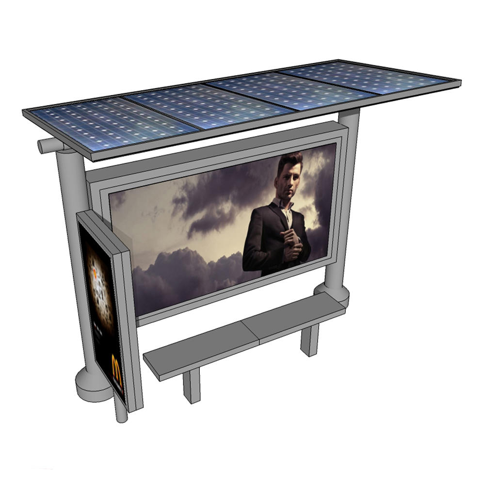 Factory Prices Advertisement Product Solar Bus Shelters