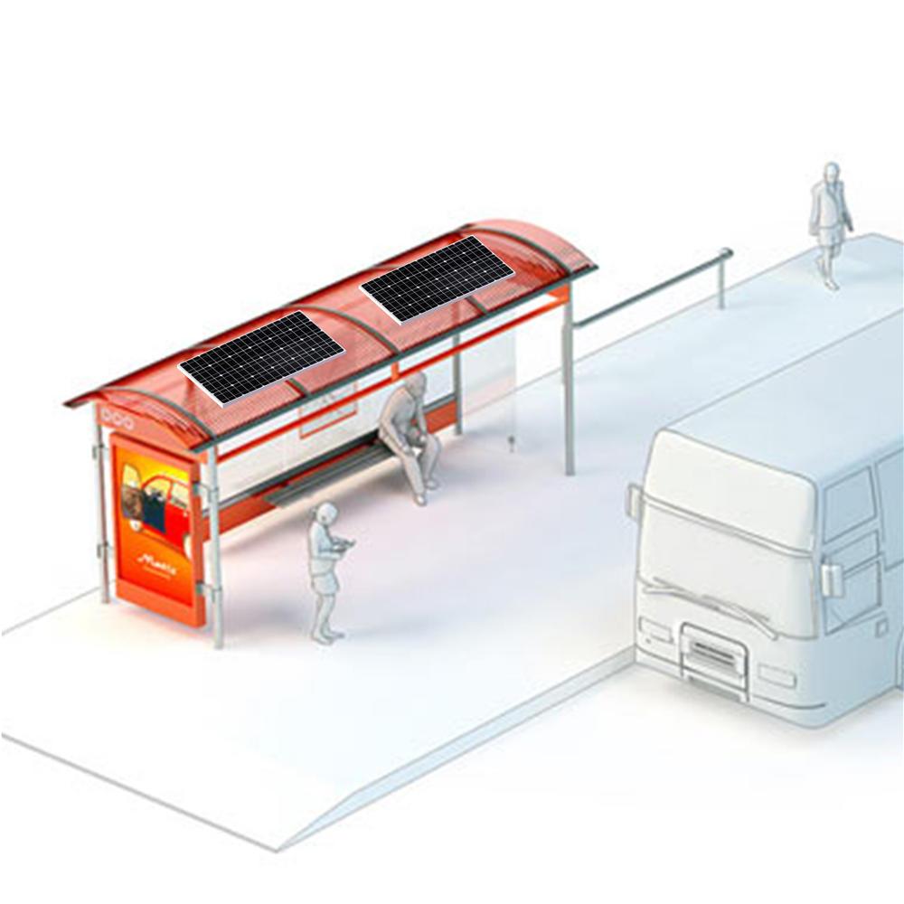 Lower Consumption Solar Bus Stop Station Advertising Design