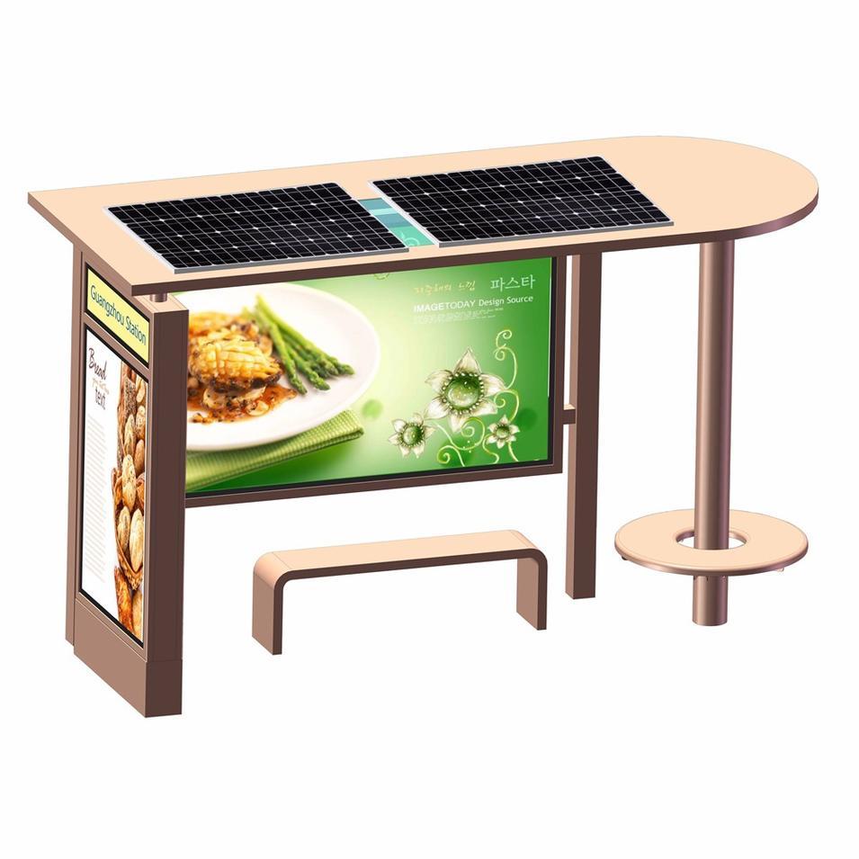 Creative Design Modern Smart Advertising Solar Bus Stop