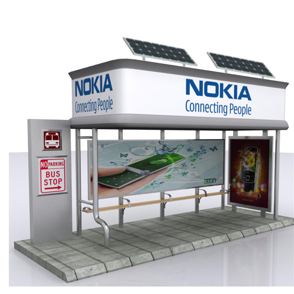 UrbanOutdoor Traffic Advertising Display Bus Stop Shelter