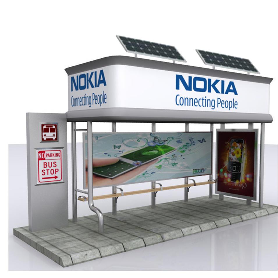 UrbanOutdoor Traffic Advertising Display Bus Stop Shelter