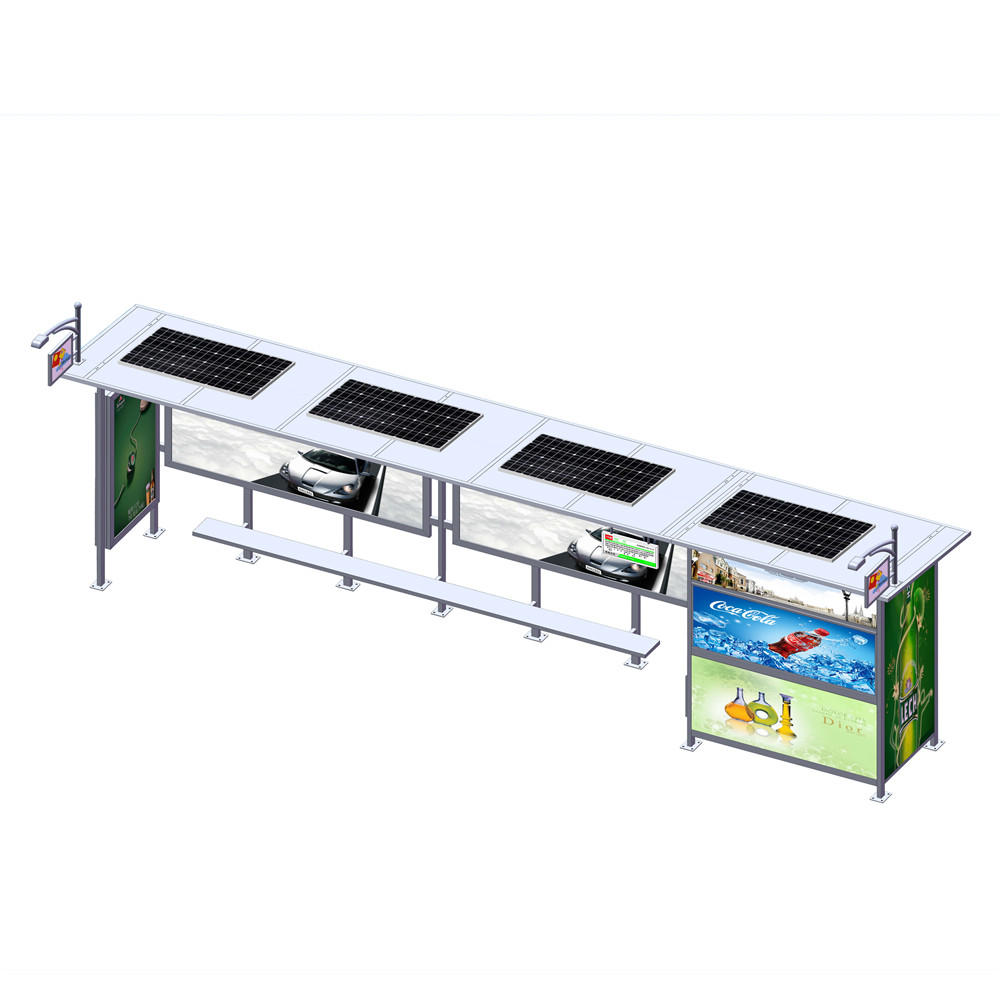 Outdoor Advertising Metal Solar Bus Stop Shelter Prices
