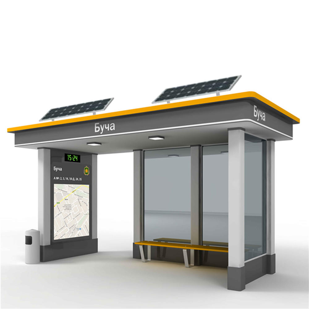 Popular new design solar bus stop