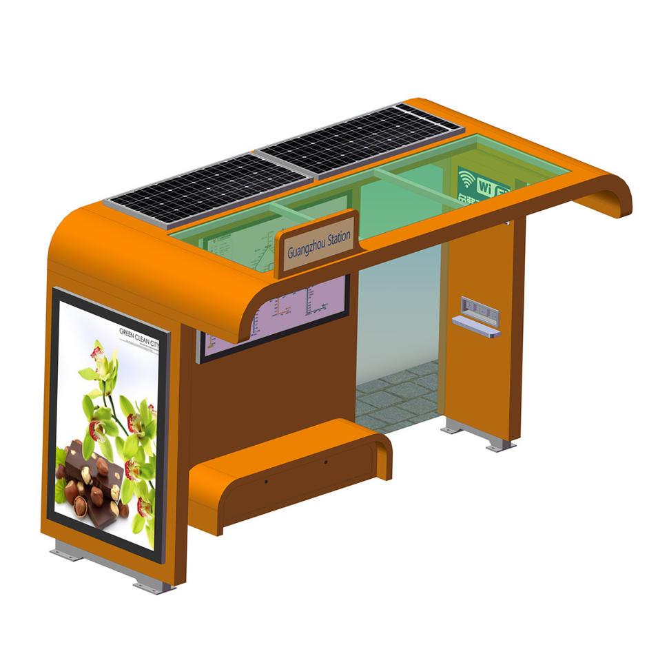 Customized Metal Solar Power Bus Stop Shelter
