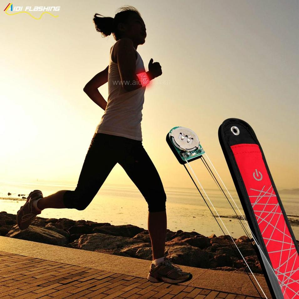 LEDreflective runner nylon waterproof cloth slap band
