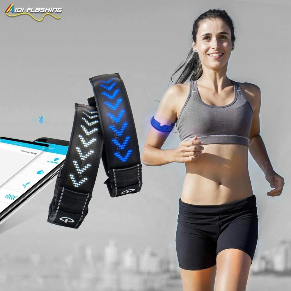 2020 New Trend USB Led Armband for Night Running with Led Screen Cool Style Messaging Led Armband