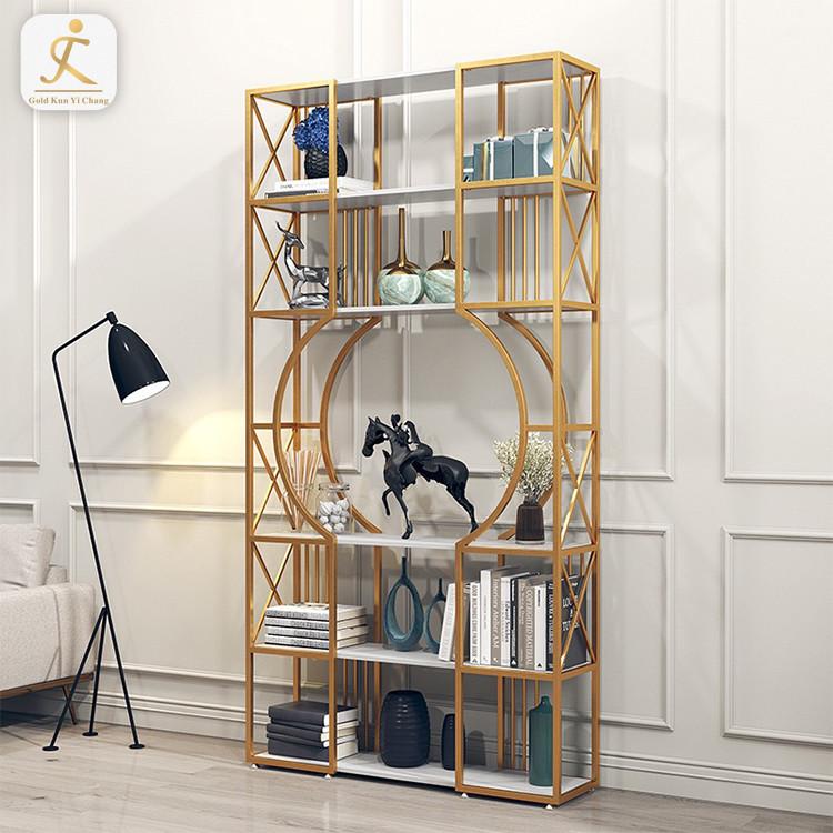 Stainless Steel Decorative Screen metal Furniture Room Display Rack Living Room Corner Artwork Display Rack Shelf