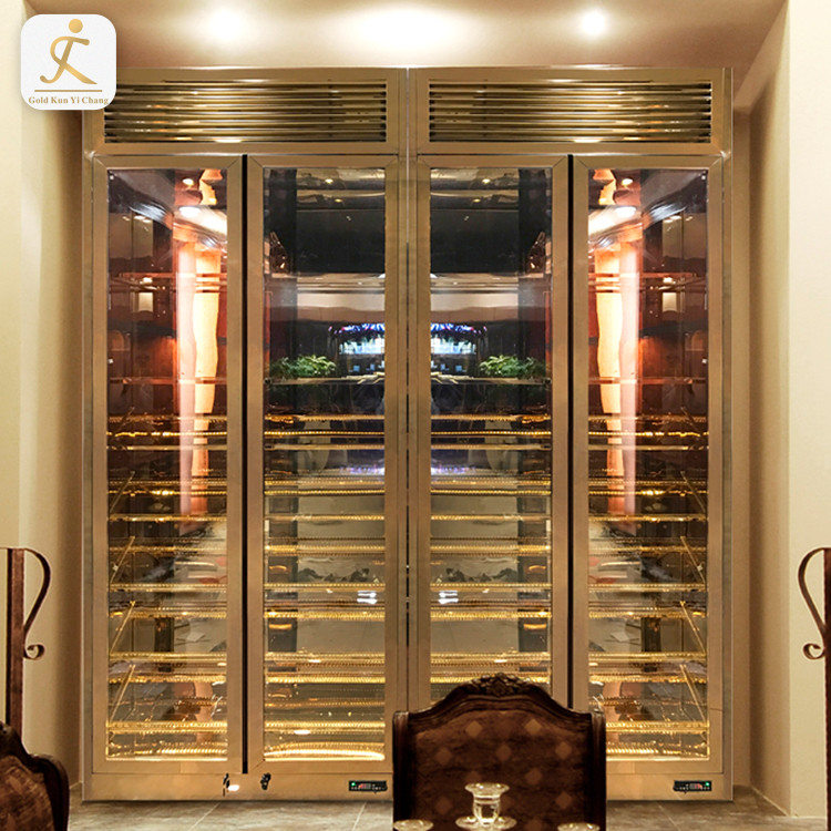 high gloss 304 stainless steel bar and wine cabinets stainless steel wine collection display cabinet glass cabinet