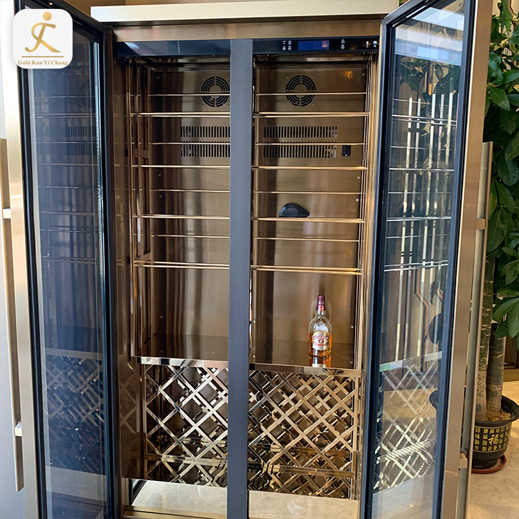 stainless steel 100 bottles customized constant temperature wine cooler wine cabinet
