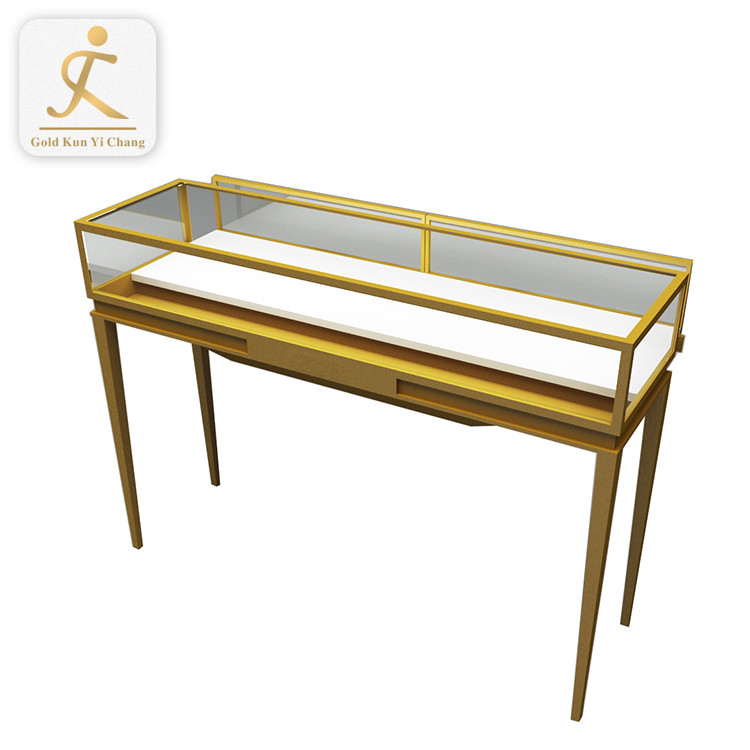 stainless steel retail jewelry shop counter design showcase display stand modern jewelry mall display cabinet showcase