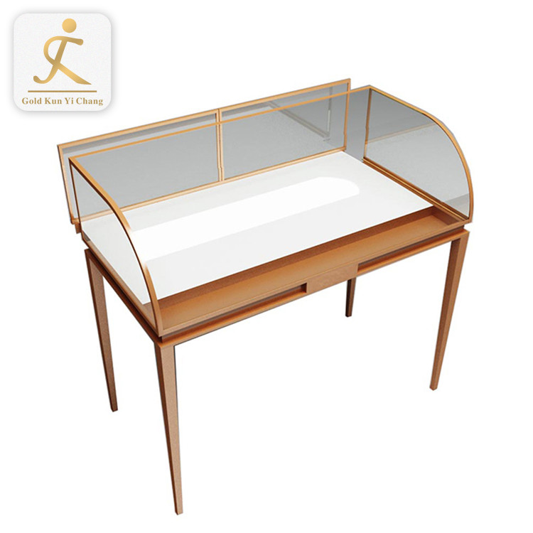 stainless steel glass display cabinet for jewelry floor standing luxury stainless steel jewelry showcase display cabinet