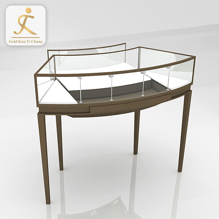 high quality jewellery shop furniture design display showcase for jewelry stainless steel glass custom jewelry display showcase