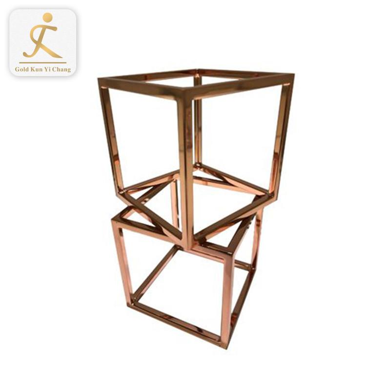 multi purpose cube look display rack free standing stainless steel shop display racks