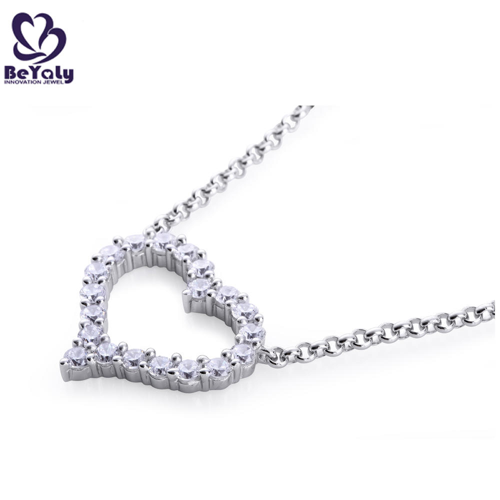 Shiny Cz Heart Shape Ebay 925 Sterling Silver Gemstone Pendants
