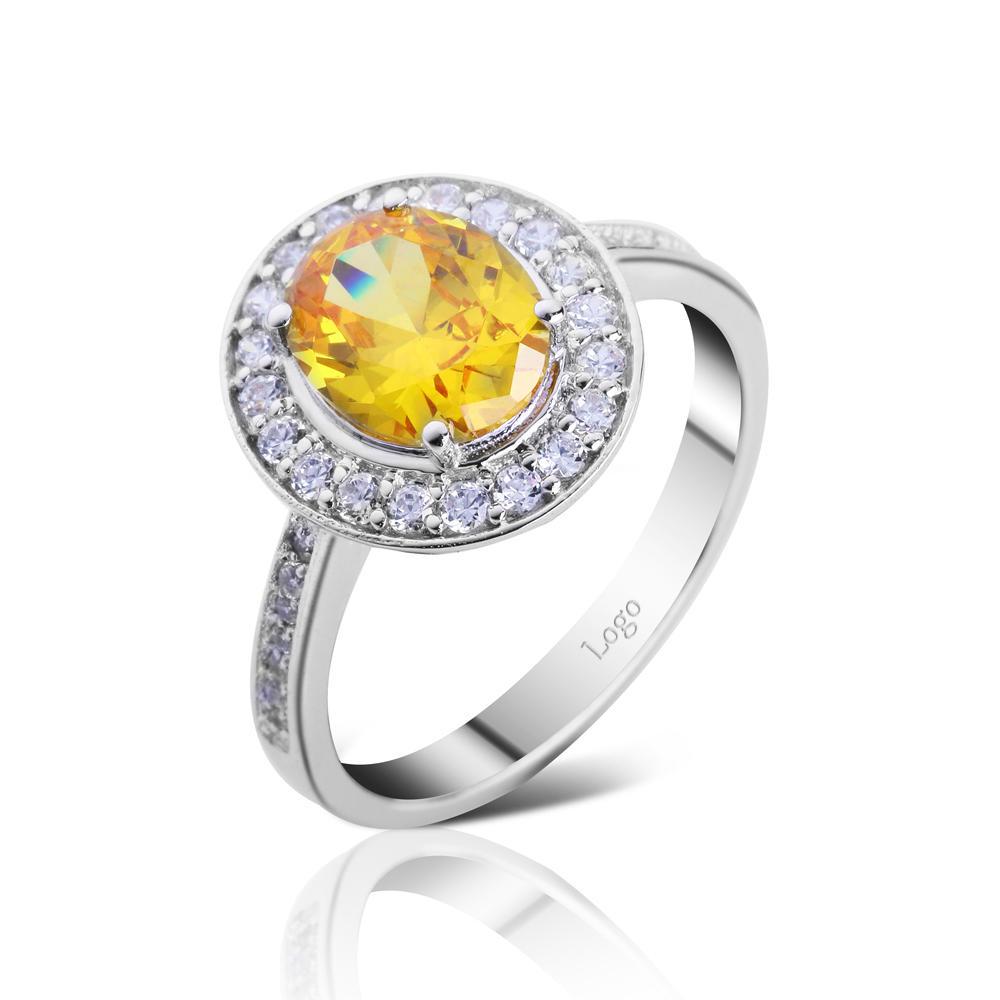 Aquamarine stone cz inlaid retail round silver rings