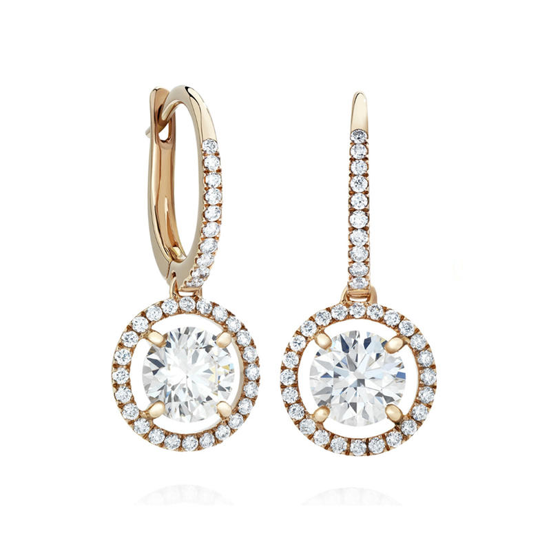 Fancy Platinum 925 Sun Sterling Silver Jewelry Earring With Cz