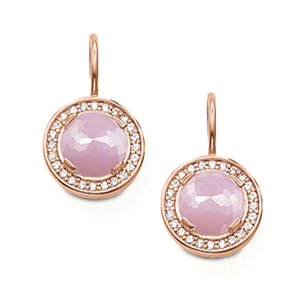 Testimonials pink stone round natural zircon gemstone jewelry