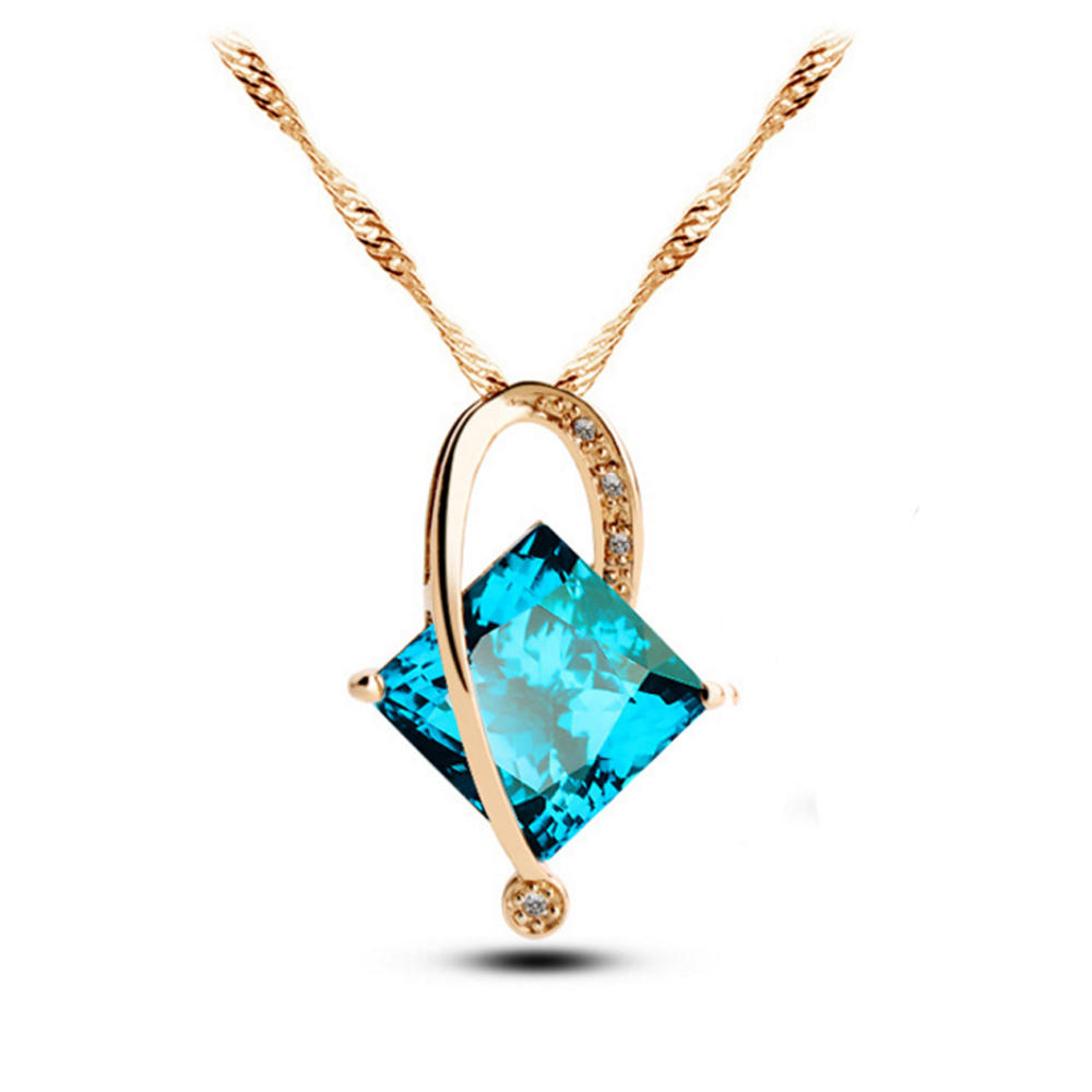 Clarity cubic stone wholesale necklace bijou 925 silver jewelry