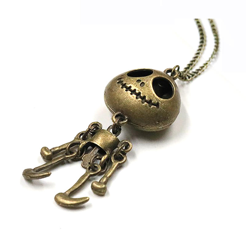 Hiphop Style Skeleton Doll Design Cartoon Robot Pendant