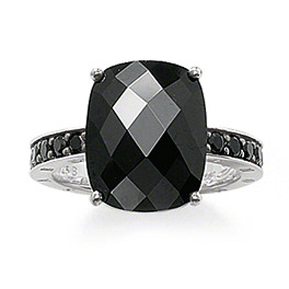 Boutique black stone silver beauty accessories for men rings