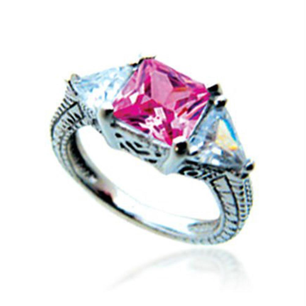 Female elegant ruby 925 sterling silver mood stone ring