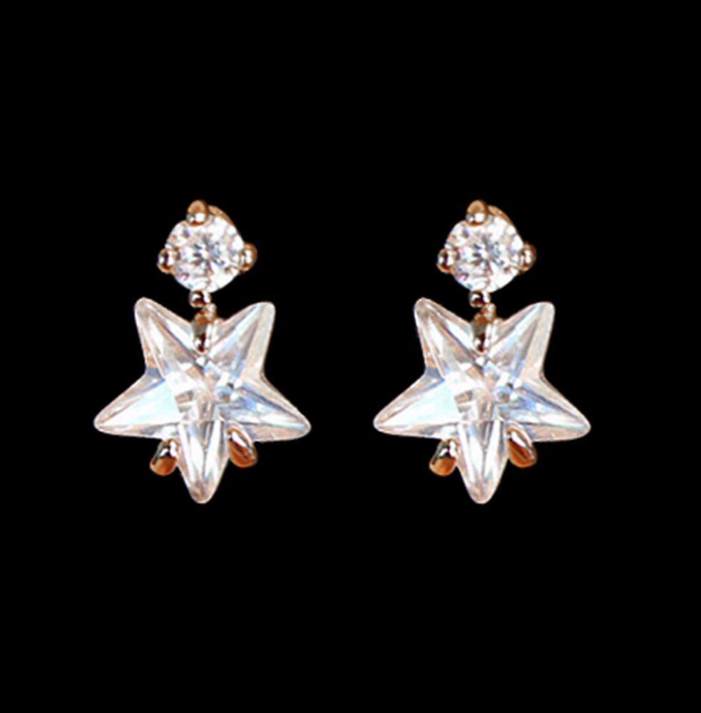 Star In Star Stone Wholesale 925 Silver Ear Piercing Studs