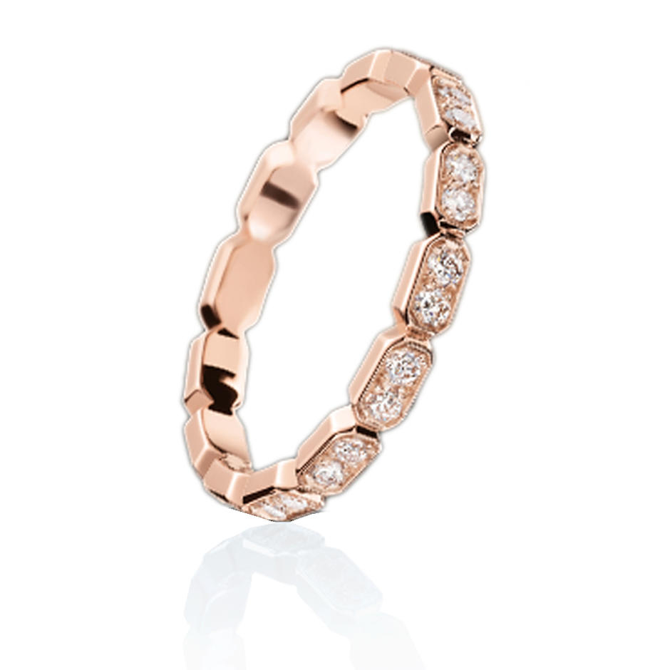 Rose gold plated real diamond ring engagement from china