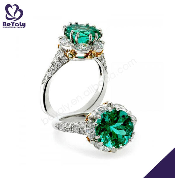 Nature stone handmade 925 sterling silver green amethyst ring
