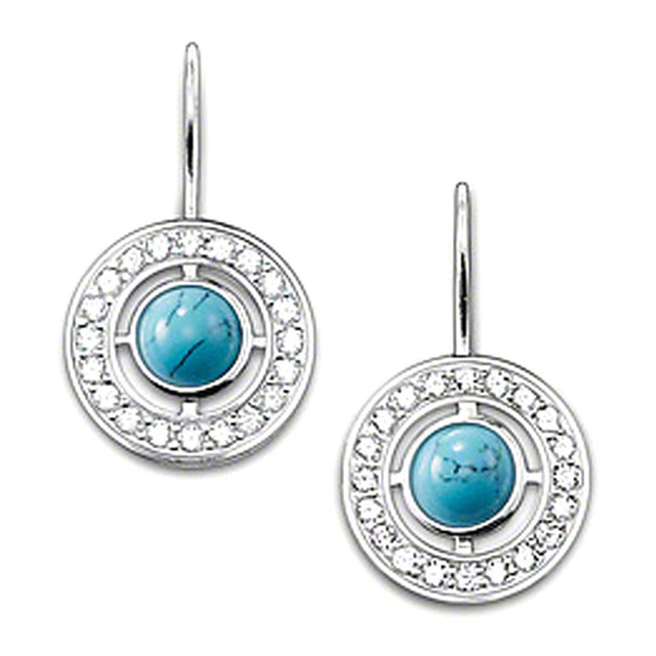 Blue cz set silver jewelry wholesale colombian emerald earrings