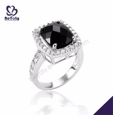 Fine and nice wholesale for women black big stone ring