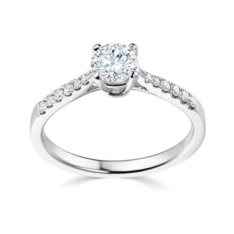 Fashion Wedding Jewelry 925 Silver Ring With Inlaying Diamond
