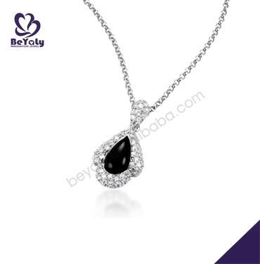 High quality black cz set female cute silver urn pendant
