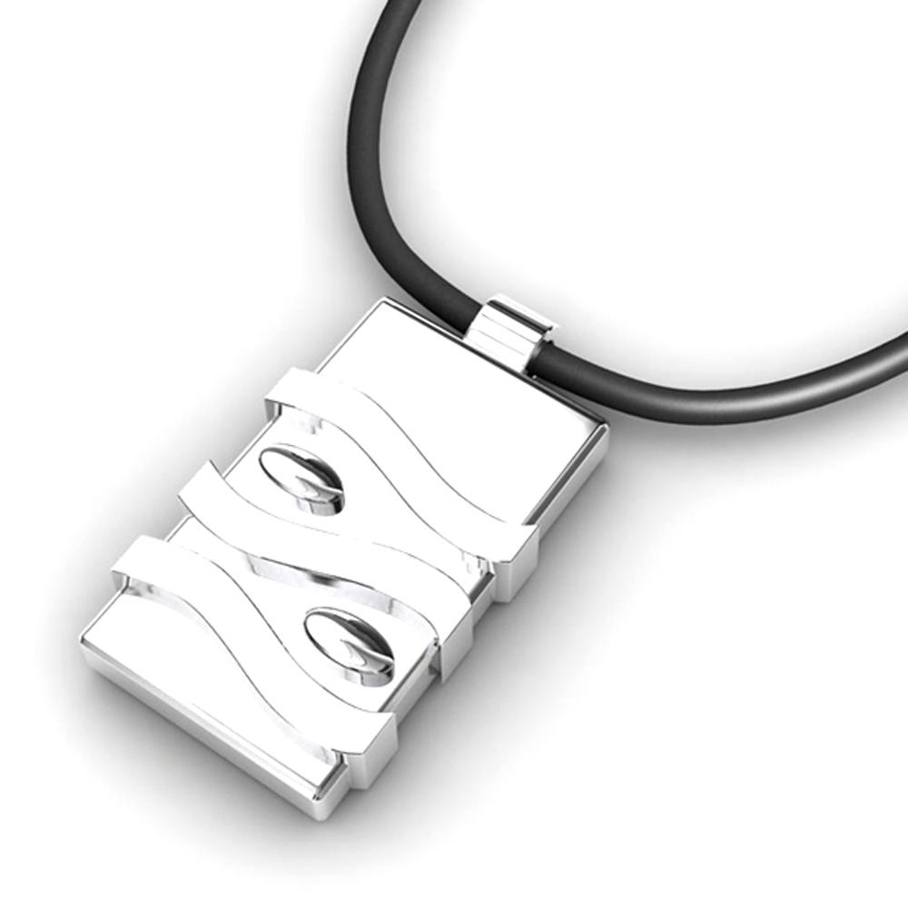 Mysterious White Stone Lock Stainless Photo Jewelry Locket
