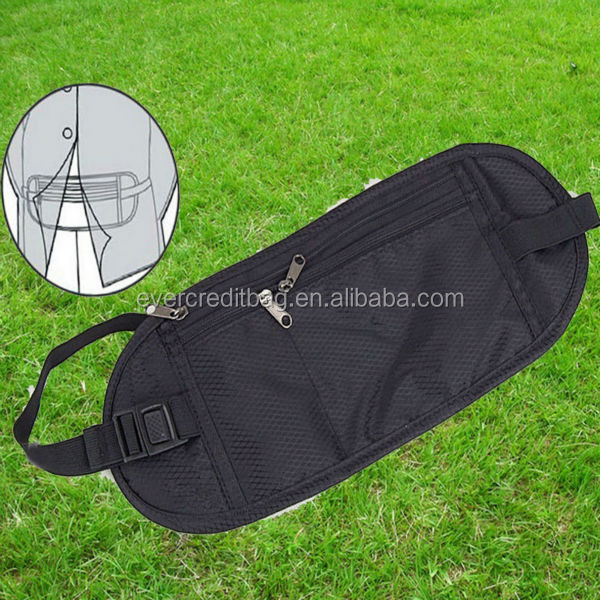 Multifunction Anti-theft Security Pack Waist Bag Storage Bag for Passports Cash Money