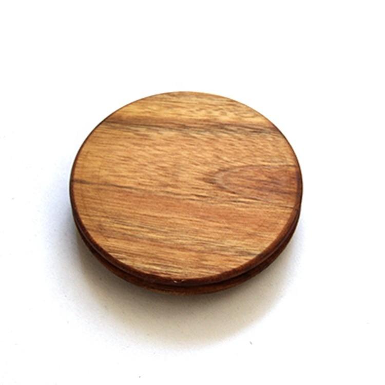 Food Grade Acacia Wood Seal Lid Home Kitchen High Borosilicate Glass Storage Jar Lids