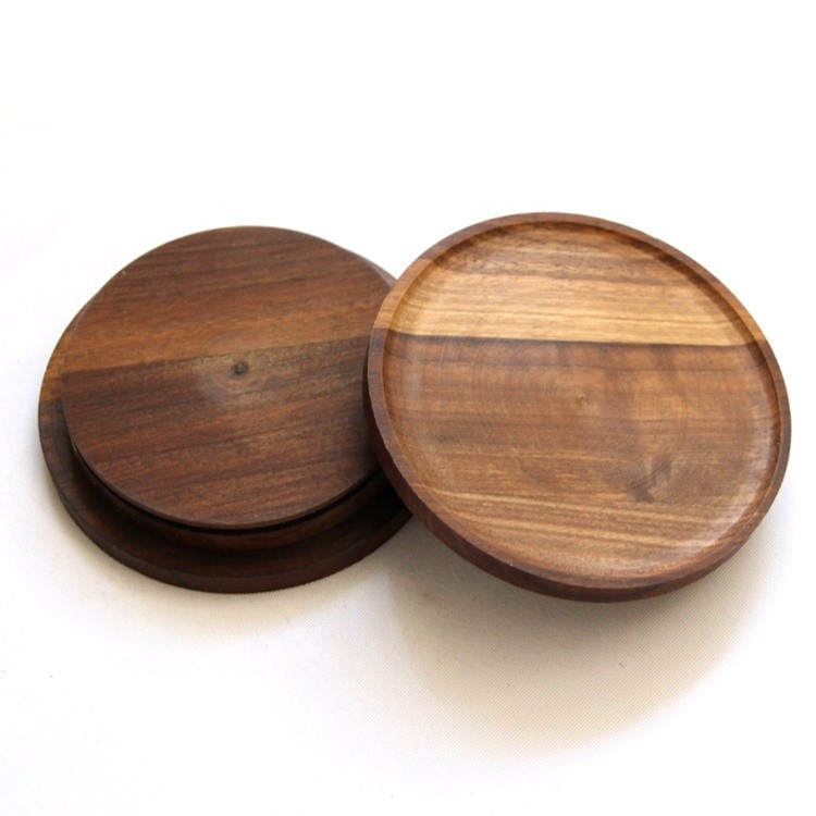 kitchen candy spices glass jar black walnut lid,customized different size laser engraved wooden lid for candle jar