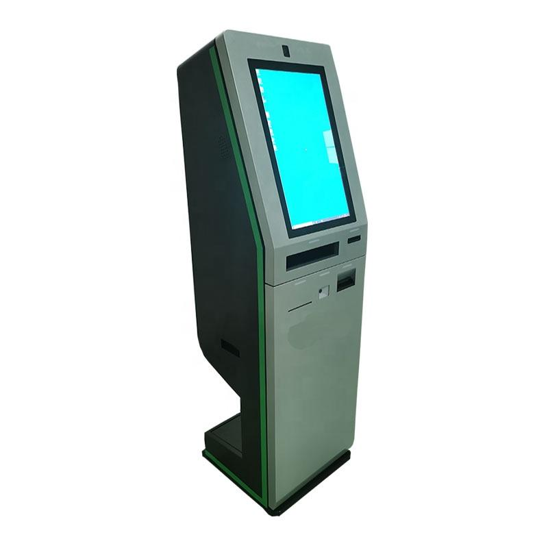 Customized design self service check-outkiosk with card dispenser in hotel