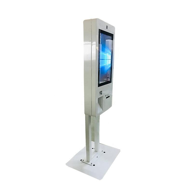 High quality 27 inch all in one self service payment ordering kiosk with barcode scanner