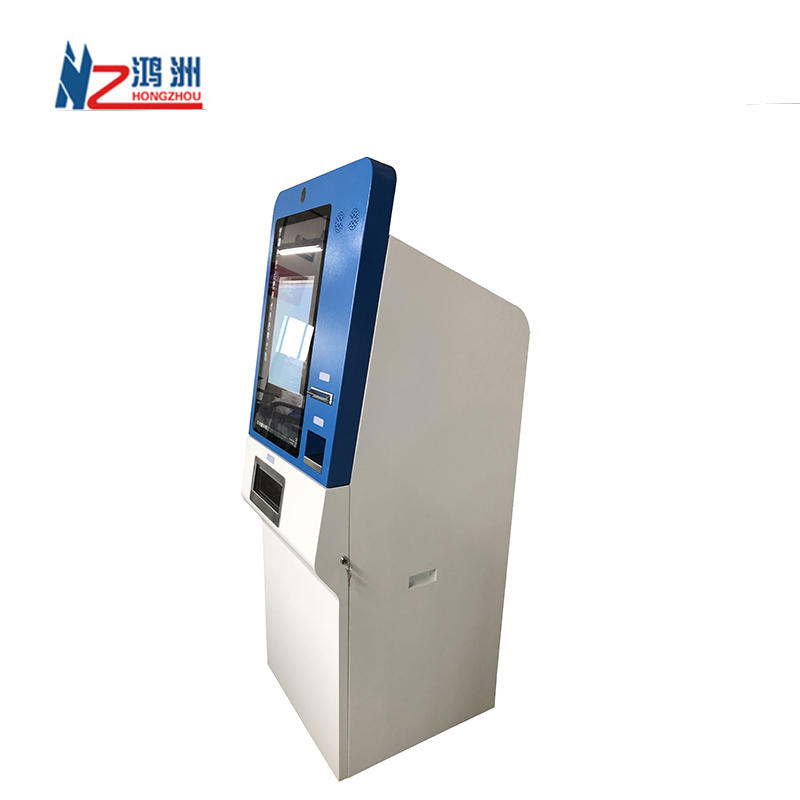 Automatic Electric Kiosk Cash In Payment Kiosk Check In Hotel Machine