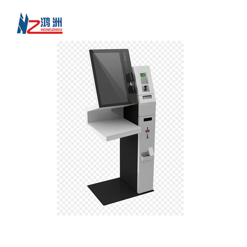 one stop self service stand alone high brightness library kiosk