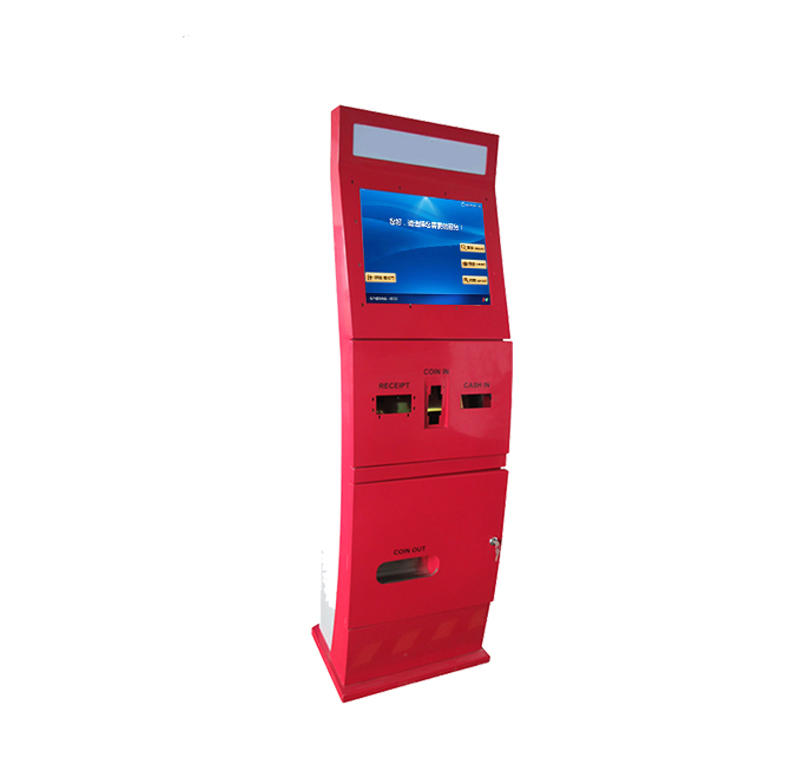 21.5 Inch touch screen foreign currency exchange kiosk with banknote acceptor Shenzhen factory