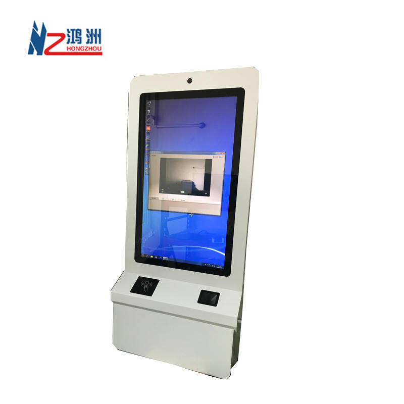 21.5inch touch screen wall mounted self ordering kiosk in restaurant