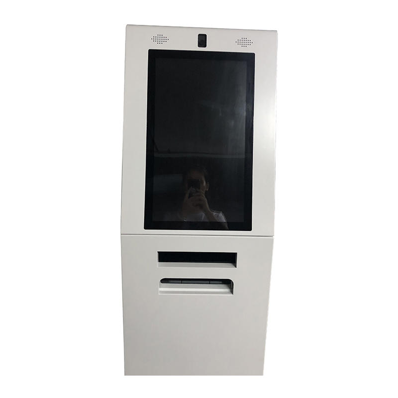 21.5 Inch Self Service Document Ticket Kiosk And Photo Printing Kiosk With A4 Document Scanner
