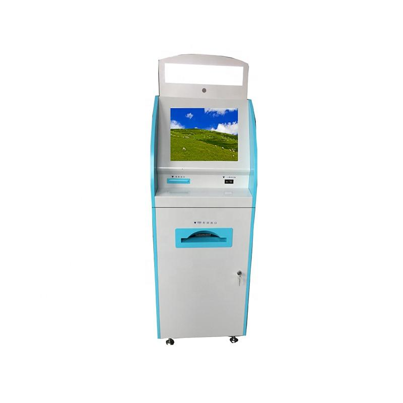 Self-service landing Visa kiosk with ID card reader scanner and A4 printer