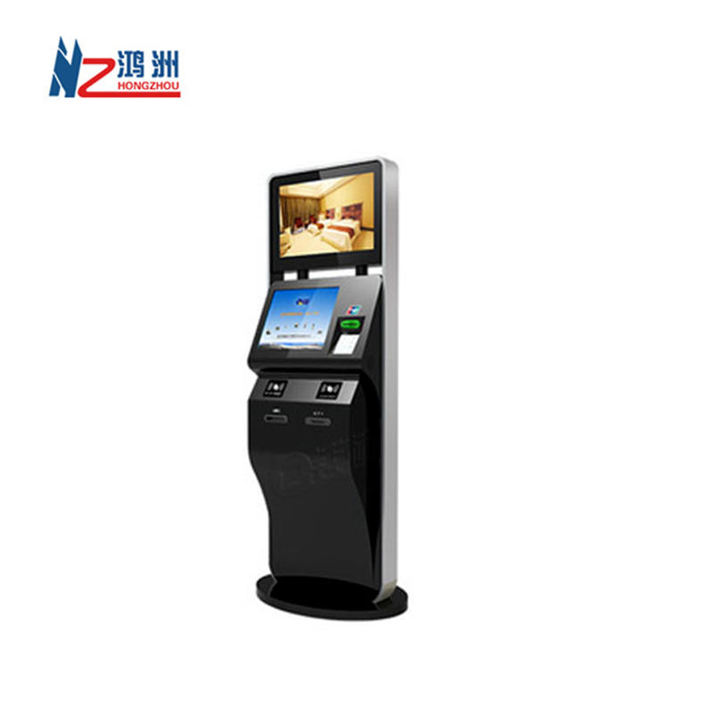New design self ordering kiosk with RFID card and cash payment Windows system for hotel check in