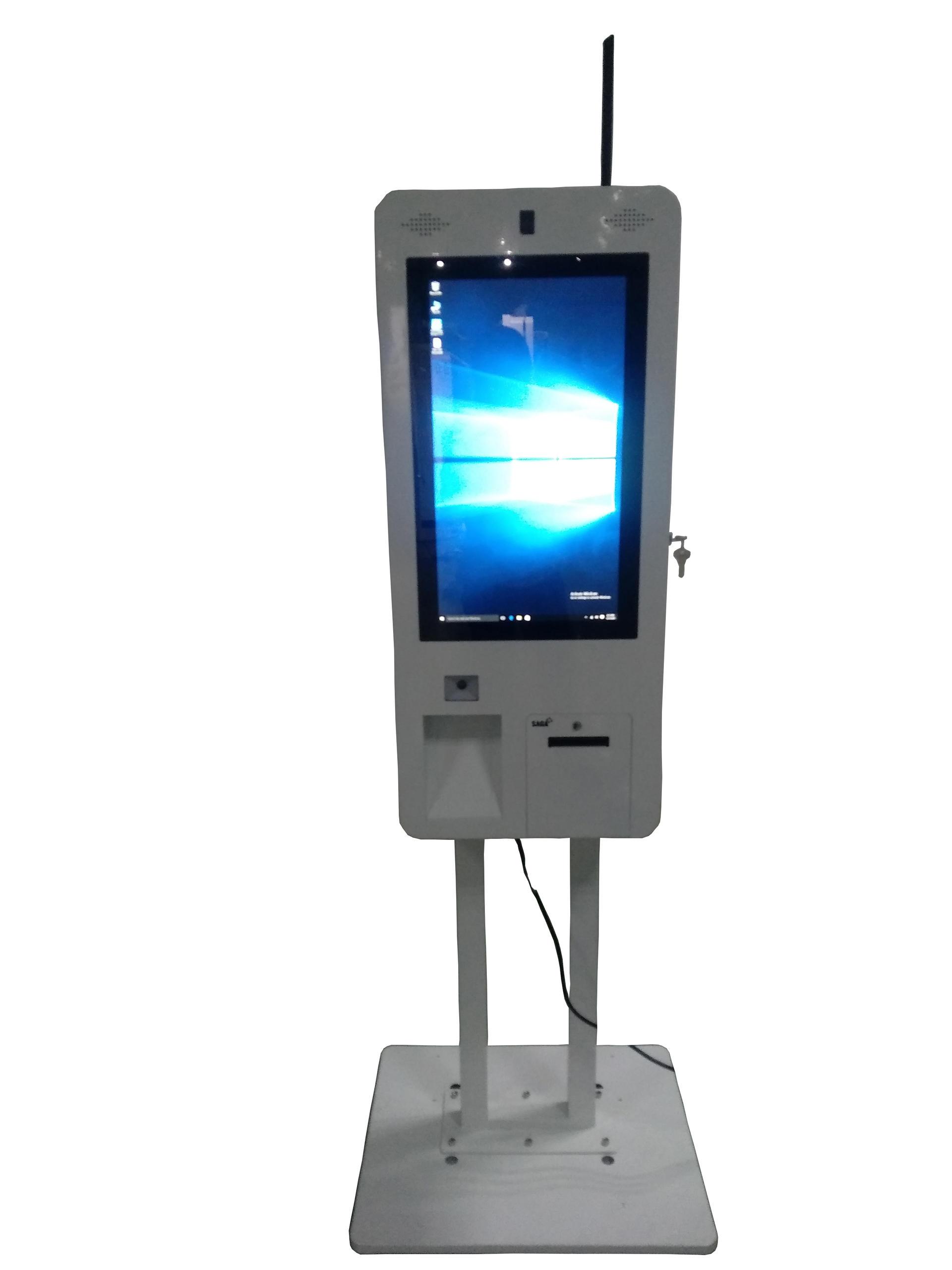 custombuilt touchscreen size standing digital signage restaurant kiosk
