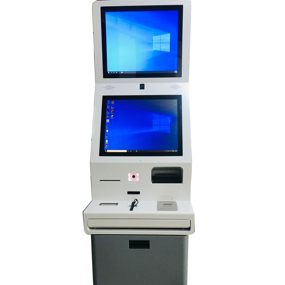 Hotel Self Service Check in Kiosk With Card Reader Holder