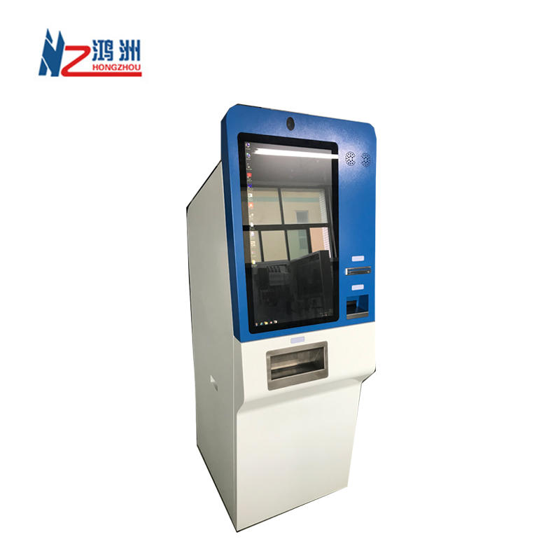 OEM exchange kiosk for cash and coin dispenser withblue and white powder coated surface treatment